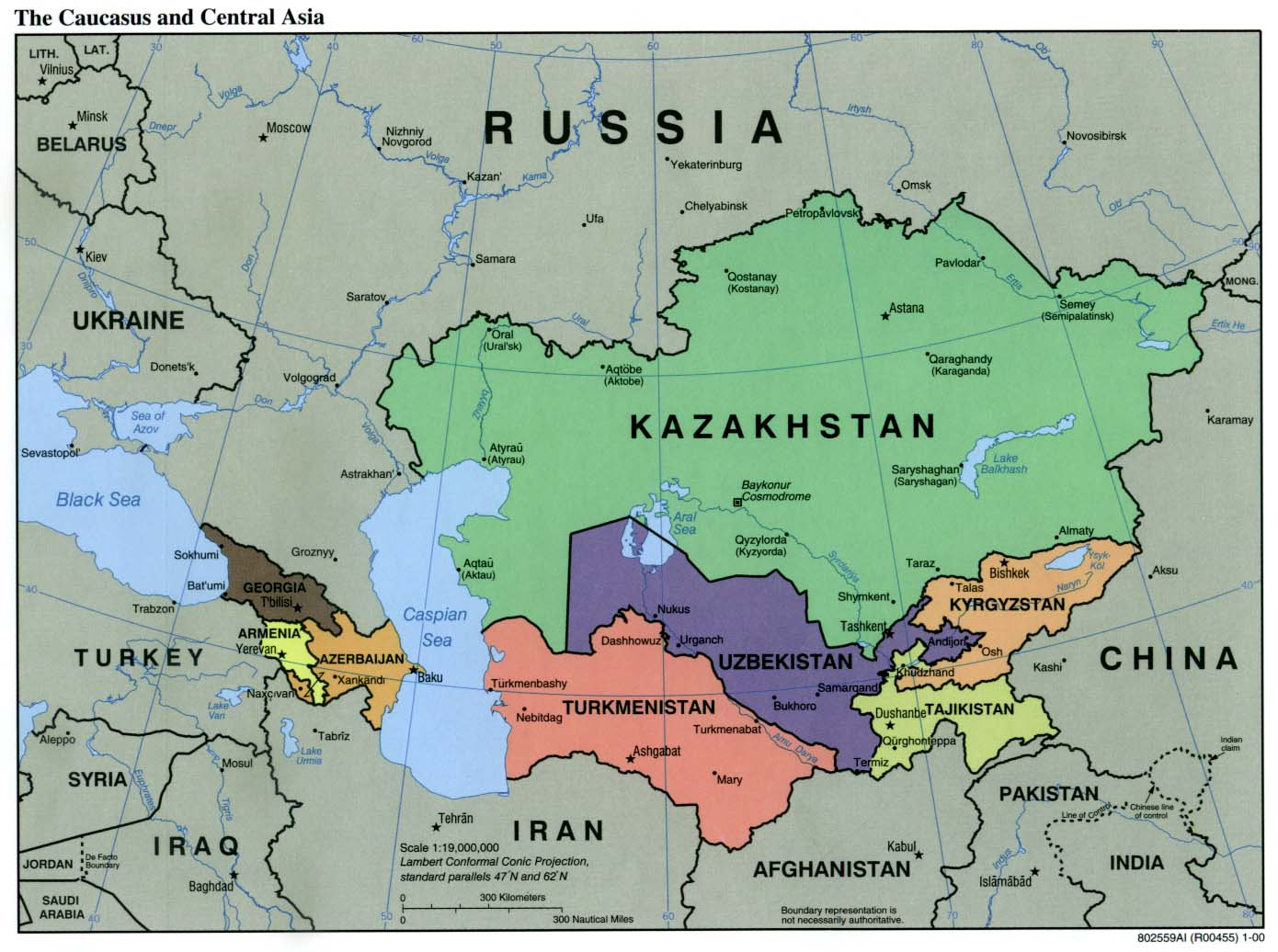 Where Is Kazakhstan On The World Map
